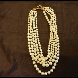 J. Crew Layered Pearl Necklace